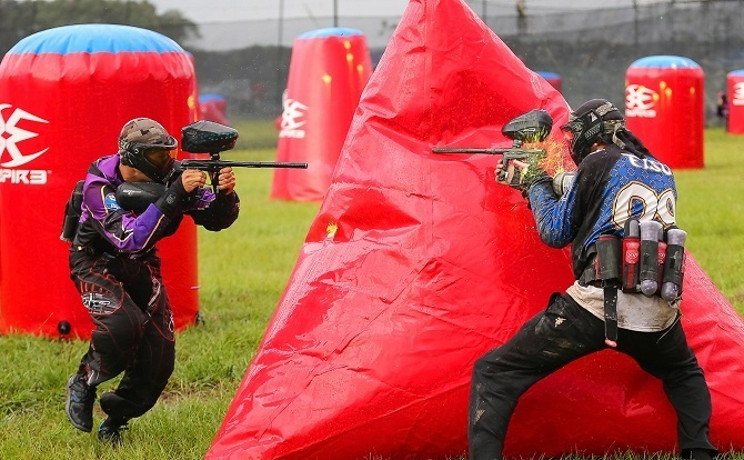 Paintballing at Ziggie's Magodo on the mainland