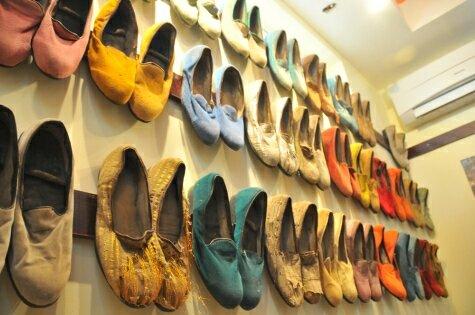 Showcase at Kalakuta museum on Lagos mainland