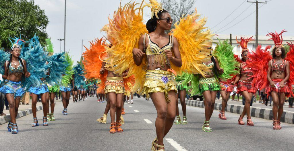 dancers at the annual calabar carnival