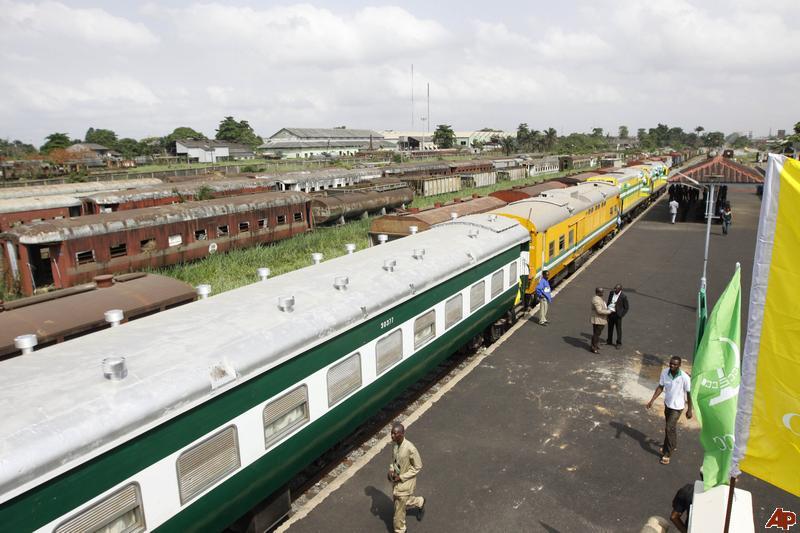 Train at a station in Kaduna