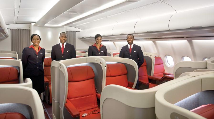 Business class view of Arik Air