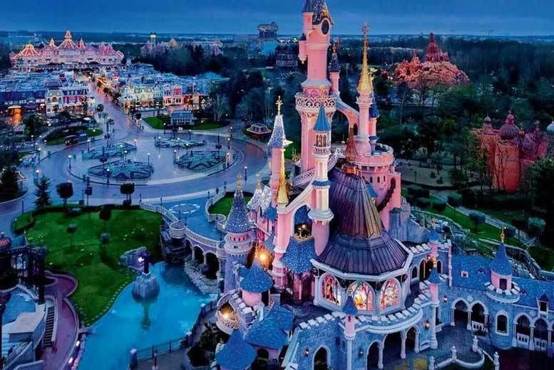 Tourist trip to France: area view of disneyland