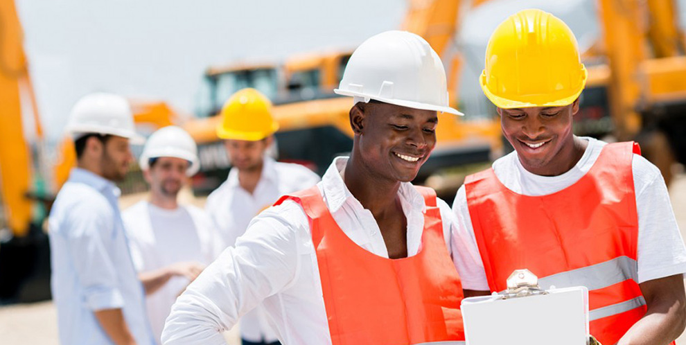 Most Popular jobs Nigerians do abroad: Happy construction workers