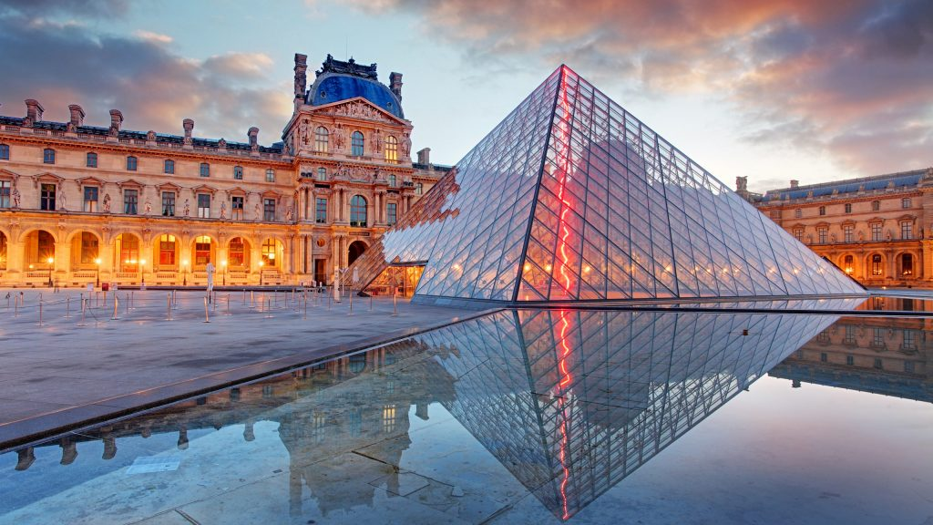 View of the Louvre Museum