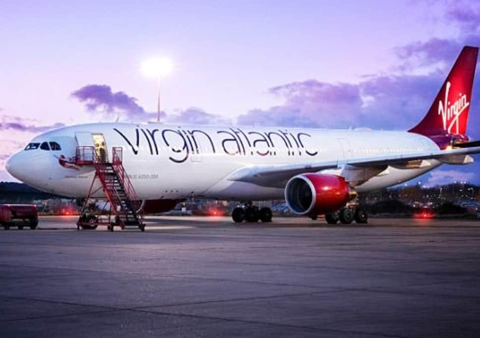 International airlines in Nigeria: Virgin Atlantic plane